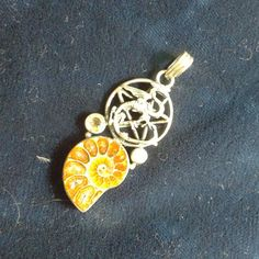 Charged Protection Amulet Sterling SIlver Dragon Pentacle