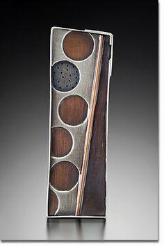 Brooch   Maja Designs. Sterling Silver, Copper, Bronze, Steel