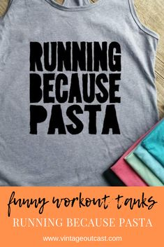 Running Because Pizza workout tank top funny workout tank top workout outfit workout shirt wine workout shirt funny pizza shirt workout clothes racerback tank top Funny Running Shirts, Funny Workout Shirts, Running Tank Tops, Workout Tank Tops, Pizza Shirt, Racerback Tank Top, Funny Pizza, Women's Fashion, Top Funny