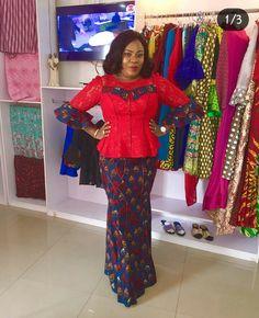 Beautiful Ankara Skirt and Blouse 2018 African Fashion Ankara, Ghanaian Fashion, Latest African Fashion Dresses, African Print Fashion, African Attire, African Wear, African Women, African Dress, African Beauty