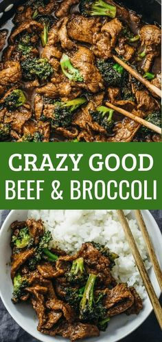 This beef and broccoli recipe is CRAZY GOOD. It's so easy and quick to make this authentic Chinese stir fry using flank steak seared on a skillet or wok. The sauce is simple to make and not spicy -- all you need are soy sauce, brown sugar, and corn starch Wok Recipes, Beef Recipes For Dinner, Dinner Ideas With Beef, Sauce Recipes, Chicken Recipes, Delicious Recipes, Chinese Beef Recipes, Healthy Beef Recipes, Supper Recipes