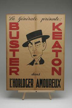 "H Original Buster Keaton Movie Poster ""L'Horloger Amourex"" 1934 French"