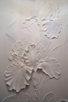 """барельеф """"Ирисы"""" - Скульптура и лепка - Лепные панно и барельефы"""