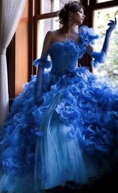 Pale Blue Wedding Dress made with Satin and Organza Blue Wedding Dresses, Cheap Prom Dresses, Quinceanera Dresses, Blue Dresses, Wedding Gowns, Wedding Dressses, Wedding Venues, Bridesmaid Dresses, Organza