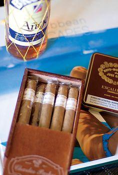 Cigar wedding favors | Photo by Angie Silvy | Brides.com