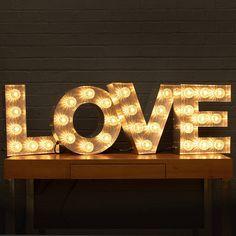 I've just found 'Love' Light Up Fairground Bulb Sign. Fabulous vintage inspited illuminated 'LOVE' letters!. £795.00