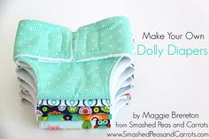 Today I thought I'd bring home the project that I created for the Riley Blake Design Team back in April, How to Make a Dolly Diaper. My kids have a love for diapering their stuffed animals so I made a set of these a few years back but it was high time I made more …