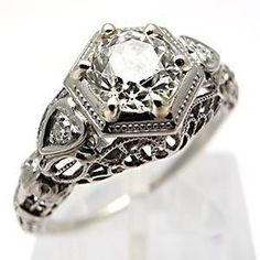 Antique engagement ring! Okay. This is it. This is mine.