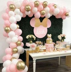 17+ Ideas baby shower cake table backdrop minnie mouse #cake #babyshower #baby