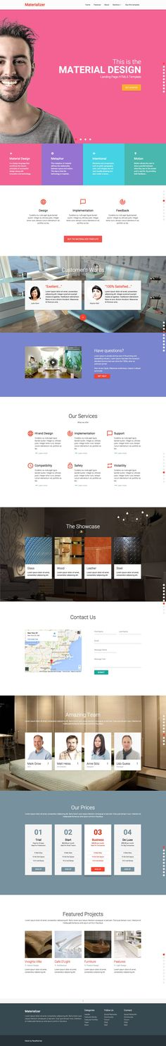 Material Design Landing Page HTML - HTML/CSS - 2