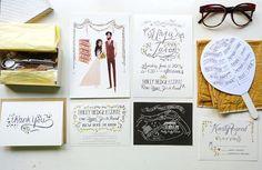 Nozze giardino rustico Custom Wedding Stationery di JollyEdition, $9.00