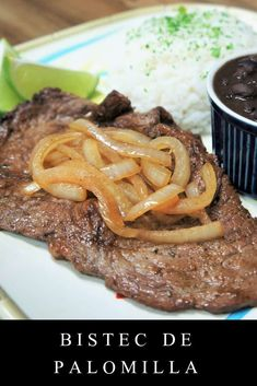 Oct 2018 - Bistec de Palomilla is the quintessential Cuban meal. It's popular in both Cuban restaurants and in homes. Palomilla steak is top sirloin. Traditionally it's cut super thin, generously seasoned and pan fried. Thin Steak Recipes, Skirt Steak Recipes, Cuban Recipes, Grilling Recipes, Meat Recipes, Food Processor Recipes, Cooking Recipes, Cuban Steak Recipe, Hawaiian Recipes