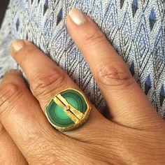 Magnificent malachite #goldenjoinery #newsustainableapproach #Jamiejosephjewelry #handmade #nynow