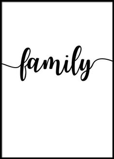 Family Poster in the group Prints / Typography & quotes at Desenio AB Typography Prints, Hand Lettering, Typography Quotes, Poster 40x50, Buy Posters Online, Family Poster, Family First, Word Families, Instagram Highlight Icons