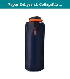Vapur Eclipse 1L Collapsible Water Bottle (Night Blue). Hydrate your need, Adrenaline Junkie! Every day should be a new adventure and the bottle you drink from should be as flexible as you. That's why the Vapur Element and integrated SuperCap were designed from the ground-up to meet the performance needs of outdoor enthusiasts everywhere. The Elementâ€TMs patented flexible design is lighter and easier to hold than rigid bottles, keeping you hydrated no matter the terrain.