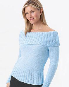 Knit Sweater Satin fuera del hombro