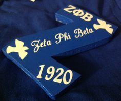 Zeta Phi Beta Z Phi B blue Zeta wall hanging by AddiCakeCreations, $9.99