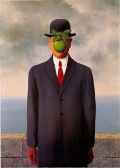 The-Son-of-Man-Rene-Magritte-1954 http://www.dailyartfixx.com/wp-content/uploads/2010/11/The-Son-of-Man-Rene-Magritte-1954.jpg