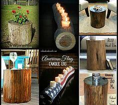 DIY Stump Flower Planter