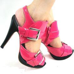 Pink platform sandal