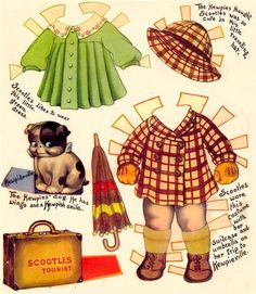 Scootles and Kewpie paper doll outfits