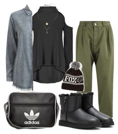"""""""[☆]"""" by bluveraa ❤ liked on Polyvore featuring Marc by Marc Jacobs, UGG Australia, Boohoo, VILA, adidas Originals, Fox and Topshop"""