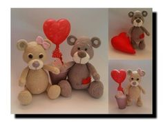 AMIGURUMI; Teddys Valentina & Valentino - MyPatterns