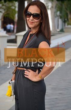Black Jumpsuit. Necklace and bracalet from www.gloriavelazquez.com