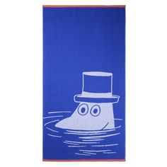 Moominpappa bath towel blue 70 x 140 cm by Finlayson - The Official Moomin Shop  - 1