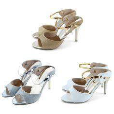 0b6e70b73692e Women High Heels Sandals Shallow Fish Mouth Women Sandals Elegant Summer  Ladies Ankle Wrap Wedding Shoes Golden Silver Product Traits  Large  capacity design