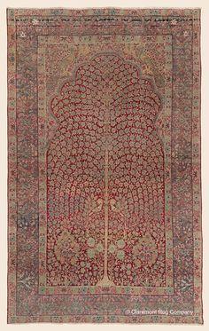 Antique Persian Kermanshah Tree of Life High Collectible Floral Deep Red Area Rug Antique Rug – Claremont Rug Company Persian Carpet, Persian Rug, Iranian Art, Rug Company, Bohemian Rug, Boho Rugs, Magic Carpet, Tribal Rug, Oriental Rug