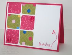 rounded corners using scraps, geometric pattern, easy and cute card