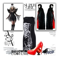 """""""#5th  Halloween ROSEGAL giveaway set!"""" by mer-jem ❤ liked on Polyvore featuring Brian Atwood, Halloween and giveaway"""