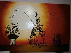 Pintura Al Oleo Don Quijote De La Mancha Bfn