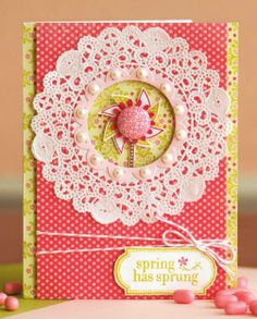 sweet and pretty with a little pinwheel-y shaped embellishment