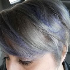 New Lavender and Gray hair color done by Cris  at Port West Salon in Tulsa