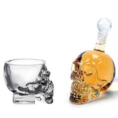 Crystal Skull Pirate Vodka Whiskey Tool - Get it Skull Face, Crystal Skull, Decanter, Whiskey Bottle, Shot Glass, Vodka, Wine, Crystals, Mead