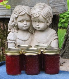 Strawberry Ginger Ale Jam! Recipe is in comments.