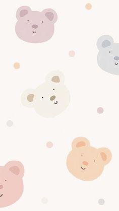 Cute Pastel Wallpaper, Soft Wallpaper, Bear Wallpaper, Cute Patterns Wallpaper, Aesthetic Pastel Wallpaper, Kawaii Wallpaper, Disney Wallpaper, Cocoppa Wallpaper, Iphone Background Wallpaper