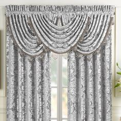 Top Construction: Rod PocketTop Opening: 1 In Rod PocketFabric Content: PolyesterFabric Description: JacquardCare: Dry Clean OnlyDecor Styles: TraditionalCountry of Origin: Imported Strip Curtains, Curtains With Blinds, Valances, Floral Curtains, Colorful Curtains, Patterned Curtains, Modern Kitchen Curtains, Luxury Comforter Sets, Waterfall Valance