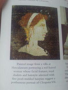 Facial, Cleopatra, Hair Pins, Red Hair, Joann Fletcher, Portrait, Fresco, Favorite Things, Book