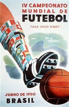 Historic fifa world cup poster design, hosted in brazil. Soccer Art, Soccer Poster, Football Art, Vintage Football, Football Boots, Sand Soccer, Real Soccer, Retro Football, School Football