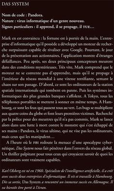 Jacqueline Chambon Noir - 2009-03 - Karl Olsberg - Das System - Verso