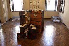 Suitcase for Yoko Ono 2009 steel&mesh 12x33x22 Alexandra Limpert