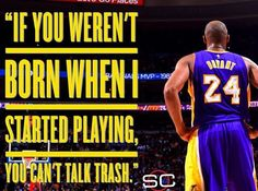 Mamba shutting mouths, even in his 20th season with his retirement pending. #GOAT