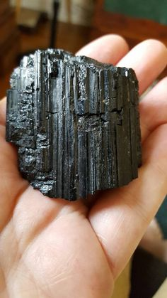 Black Tourmaline Rough Chunk by LobsterIslandBeadery on Etsy Black Tourmaline, Healing Stones, Rocks, Rings For Men, Buy And Sell, Handmade, Stuff To Buy, Etsy, Jewelry