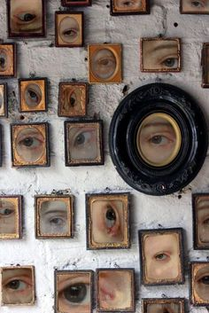 eyes frames wall