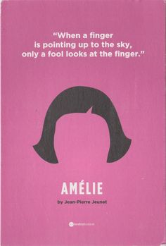 """Postcard received from the Ukraine >>  """"When a finger is pointing up to the sky, only a fool looks at the finger"""" -- Amélie (or Le Fabuleux Destin d'Amélie Poulain) by Jean-Pierre Jeunet (2001)"""