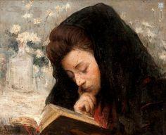 ''A leitura'': Óleo sobre tela.