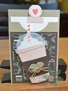 Coffee Cafe Gift Card Pocket